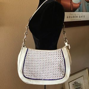 London Anya Hindmarch Leather Woven Handbag